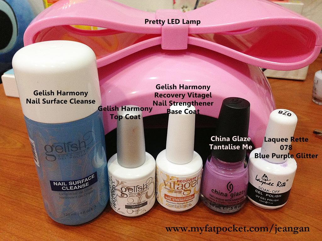 grey DIY gelish nails x normal nail polishes